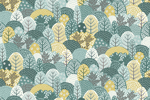 Makower Claras Garden Trees 2265/B