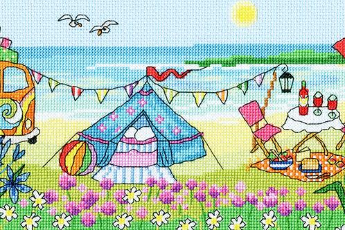 Cross Stitch Kit - Glamping Fun