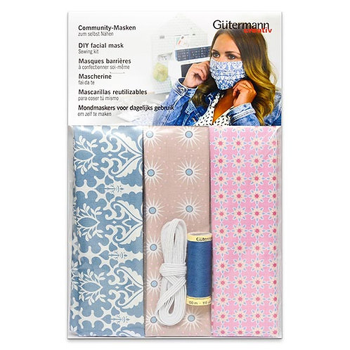 FACE MASK SEWING KIT - COMMUNITY MASKS [3 PIECES] GÜTERMANN