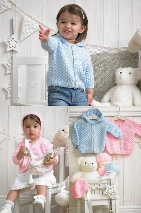 Stylecraft Babies - Cardigans and Hat DK -4005