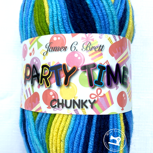 James C Brett Party Time Chunky - Greens/Blues/Yellows - PT2