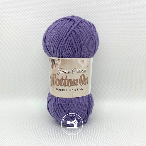James C Brett Cotton On DK 50g Purple C032