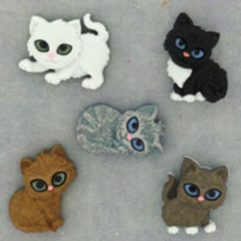 Dress it up Buttons - Kitten Kaboodle - 6971 -  Childrens/Craft