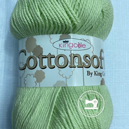 King Cole Cottonsoft 100g - Double Knit DK - Celery Green 3364