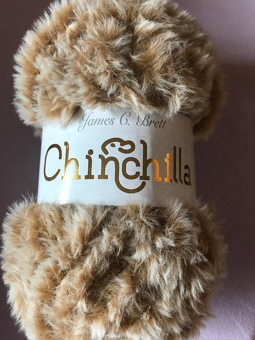 Chinchilla Furry 100g - James C Brett - Tan - Brown CH02