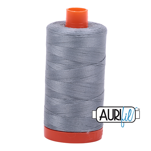 Aurifil 50/2 Dark Silver Thread, 2610