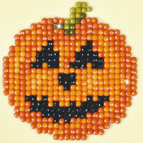 Diamond Dotz Starter Kit - Happy Halloween Pumpkin