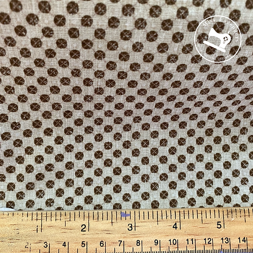 Brown and white Cotton Fabric