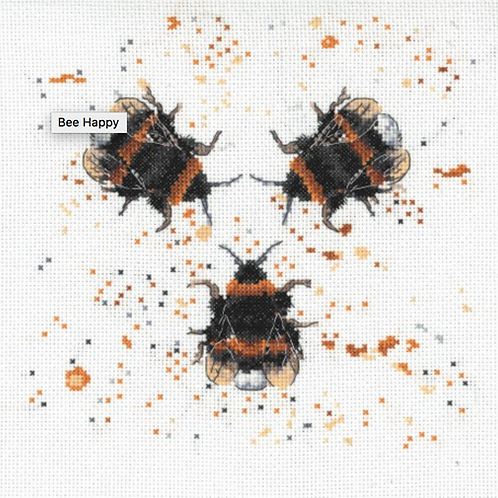 Bree Merryn Counted Cross Stitch Kit - Bee Happy - BMCS02