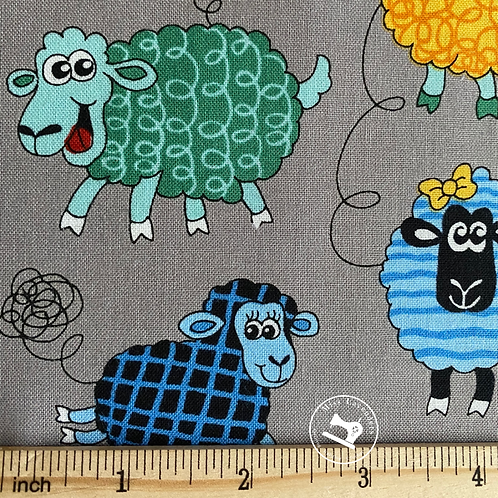 Farm Fun Sheep Print Fabric - 100% Cotton