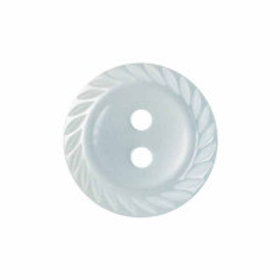 Pale Blue Milled Edge 14mm Button