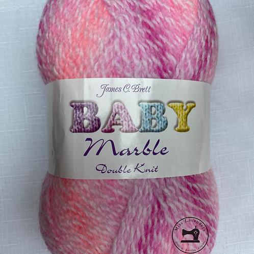 James C Brett Baby Marble DK - Pinks/White BM01