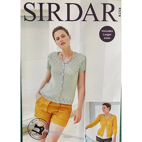 Sirdar Ladies Cardigan - Double Knit - 8258