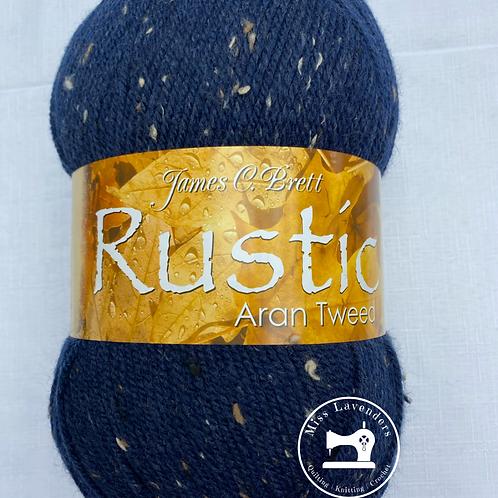 James C Brett Rustic Aran Tweed with Wool 400g - DAT24 Navy