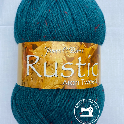 James C Brett Rustic Aran with Wool 400g - DAT32 Teal/Green