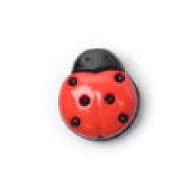 A1738 Buttons small ladybird 15mm