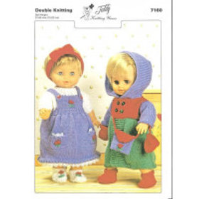 DOLLS COAT & OUTFIT KNITTING PATTERN 7160