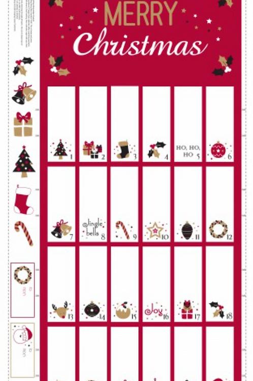Christmas Advent Calendar Panel - Design that folds