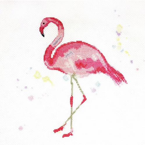 Flamboyance Flamingo Cross Stitch Kit