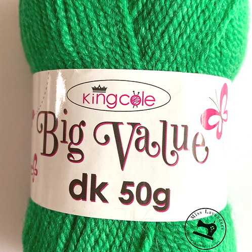King Cole Big Value Double Knit DK 50g - Emerald 4050