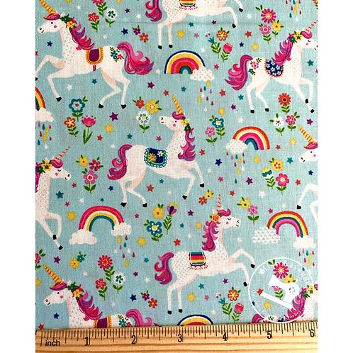 Makower Daydream Unicorns Turquoise 2275/T