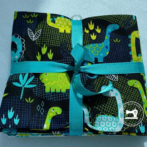 Fabric Pallette Desert Dinosaur Bundle - Cotton Fat Quarters - 5 Pack