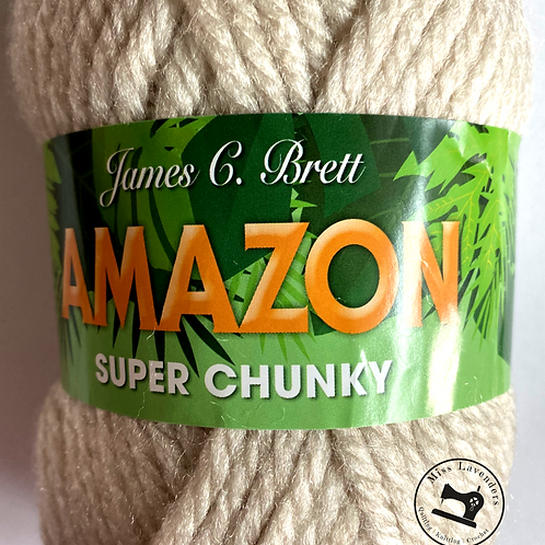 James C Brett Amazon Super Chunky J14 Parchment