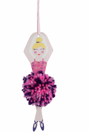 Trimits Pom Pom Kit -Ballerina/Sugar Plum Fairy