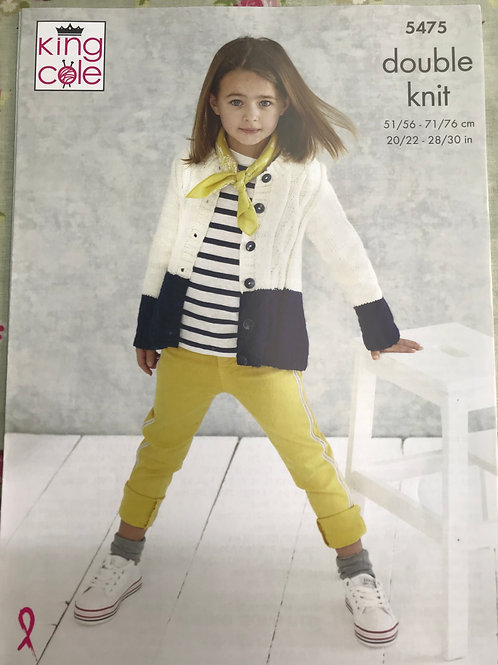 King Cole 5475  Childrens Cardigan