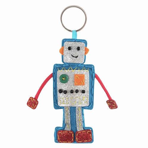 Robot Keyring Felt Kit