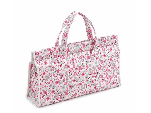 Knitting Bag: Triangle Knitting bag, Confetti Raspberry