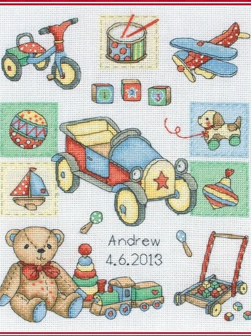 ANCHOR CROSS STITCH KIT - Boy Birth Sampler ACS39