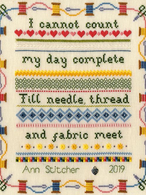 Cross Stitch Kit - Stitching Sampler