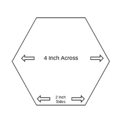 "2"" Paper Piecing Hexagons - Quantity 100"