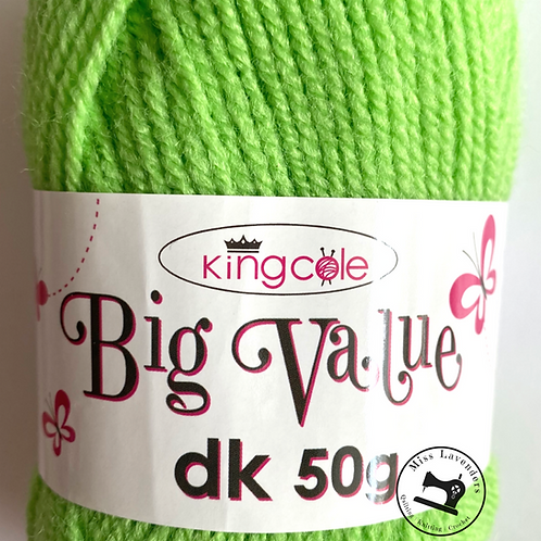 King Cole Big Value Double Knit DK 50g - Lime 4049