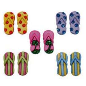Fab Flip Flop Novelty Buttons by Dress It Up