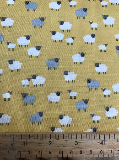 Makower Spring - Sheep yellow Fabric