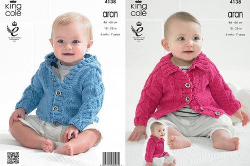 King Cole 4138 Babies  Aran