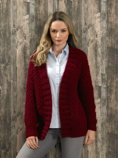 James C Brett Adult Super Chunky Cardigan - Knitting Pattern - JB579