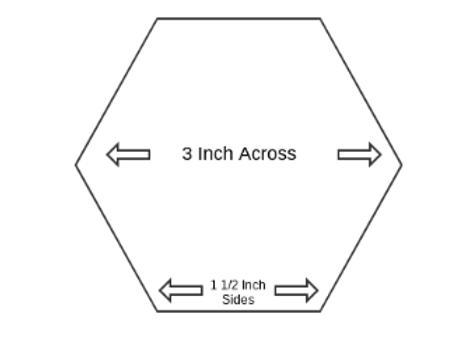 1 _ inch Paper Piecing Hexagons - Quantity 100