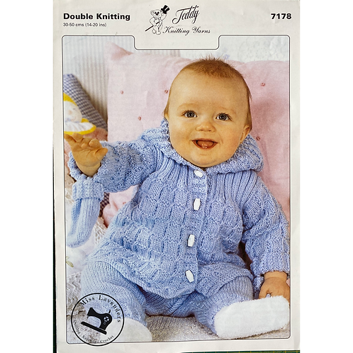 Teddy Baby Jacket  and Trousers  in Double Knit - 7178