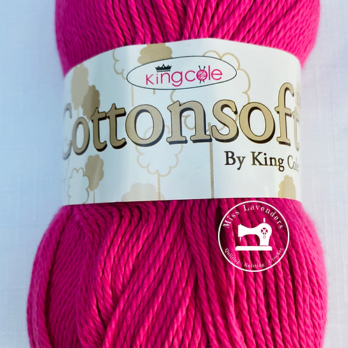 King Cole Cottonsoft DK Hot Pink 1848