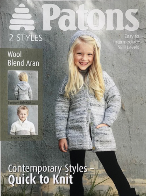 Patons Aran Childrens Cardigan and Jumper 3850
