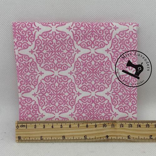 Riley Blake Fruitful Pleasures Damask Pink Fabric