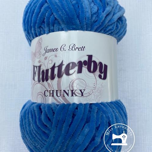 James C Brett - Flutterby Chunky 100g - B20 Blue