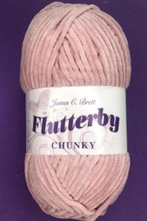 James C Brett Flutterby Chunky Light Pink B2