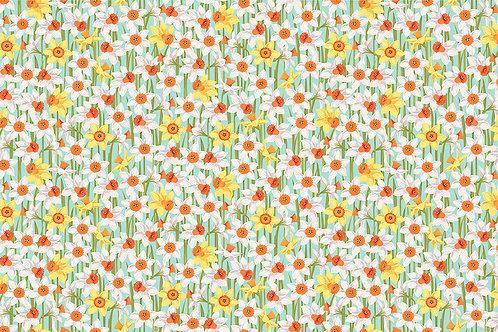 Makower Spring - Daffodils Fabric