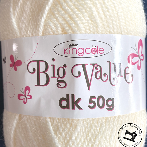 King Cole Big Value Double Knit DK 50g - Cream 4021