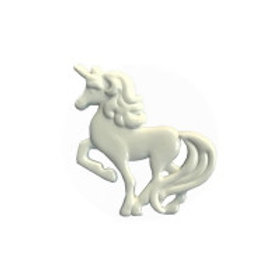 White Unicorn Button