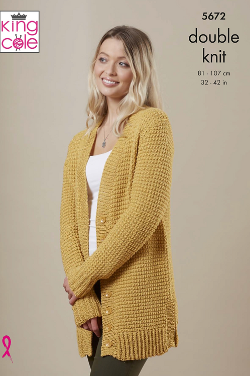 King Cole Ladies Cardigan and Sweater  - DK - Knitting Pattern -5672